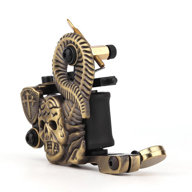 Embossment Skull Tattoo Machine Good Beginner Tattoo Machine 1101322