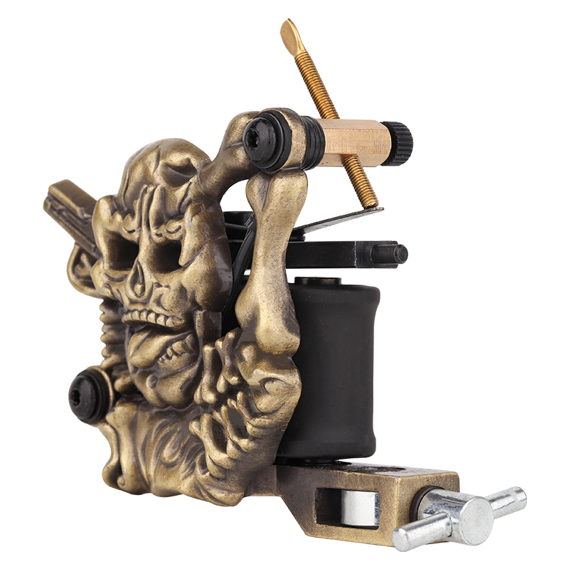 Embossment Skull Tattoo Machine Good Starter Tattoo Machine 1101304-1