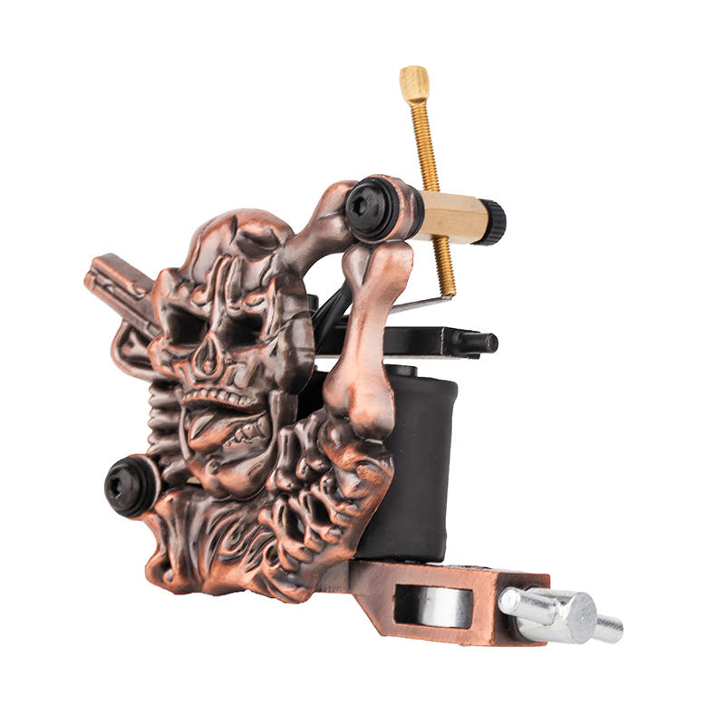 Homemade Tattoo Machine Embossment Skull Tattoo Machine 1101304-2