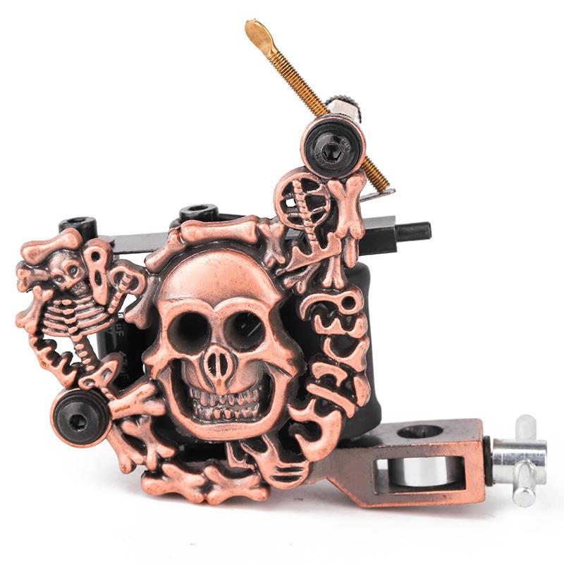 Embossment Full Tattoo Machine Skull Tattoo Machine 1101305-2