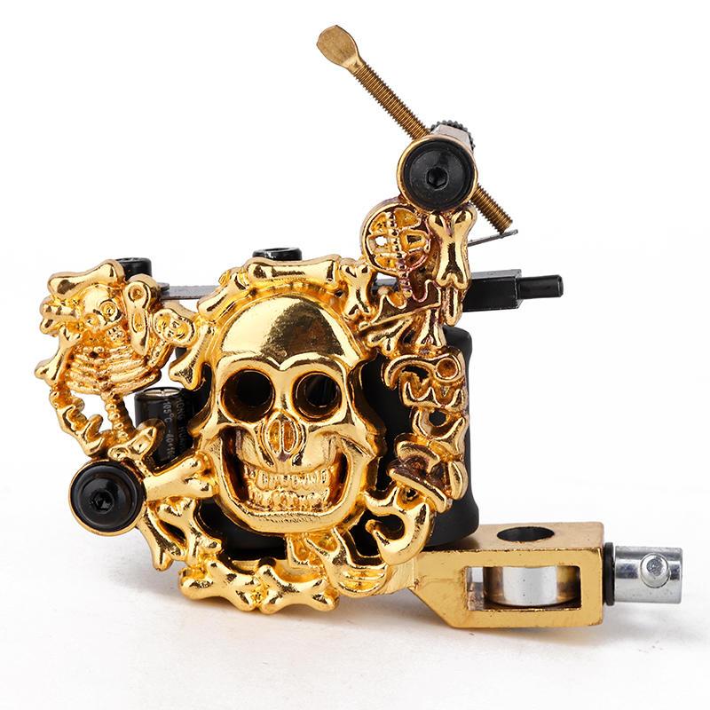 Basic Tattoo Machine Embossment Skull Tattoo Machine 1101305-3