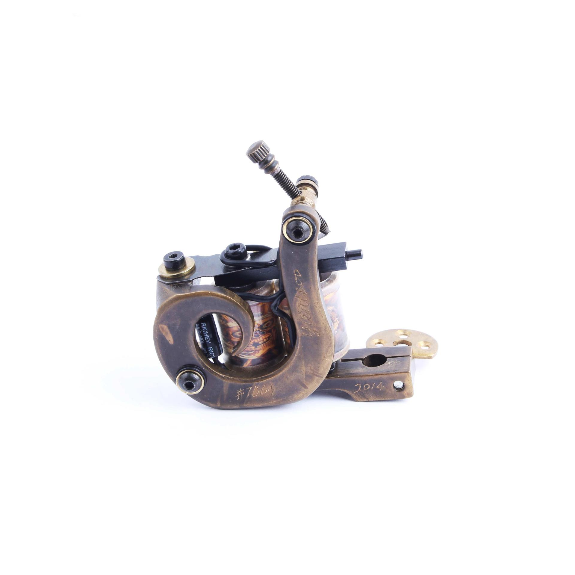 Tattoo Making Machine Carving Handmade Bronze Tattoo Machine 1000937