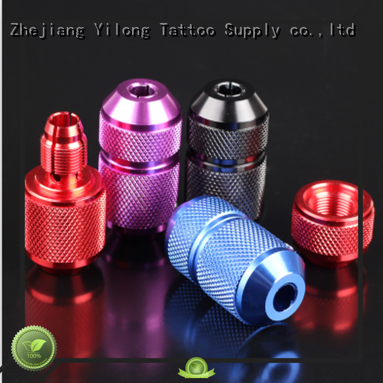 Yilong comfortable aluminium tattoo grips free delivery for tattoo