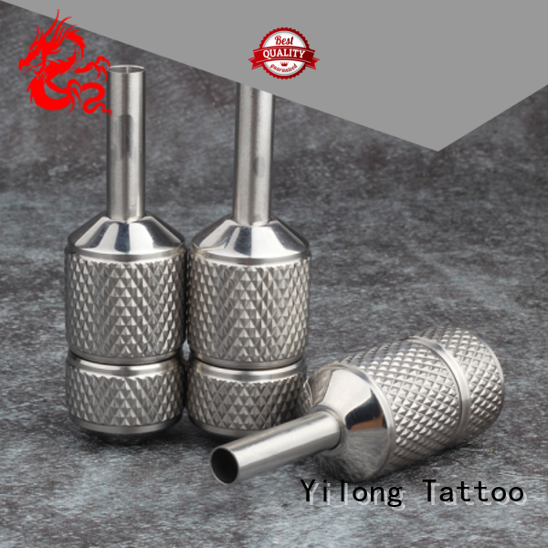 Yilong steel tattoo tubes and grips for business with autoclave