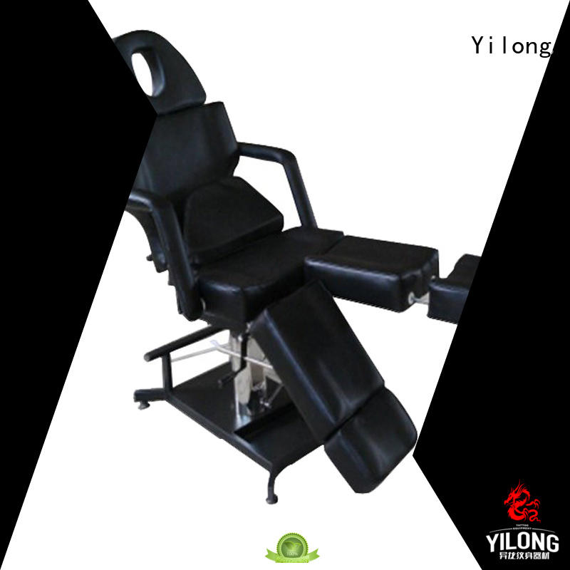 Yilong foldable adjustable tattoo chair factory for tattoo machine grip
