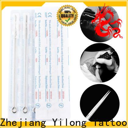 Yilong yellow tattoo disposable needles company for tattoo